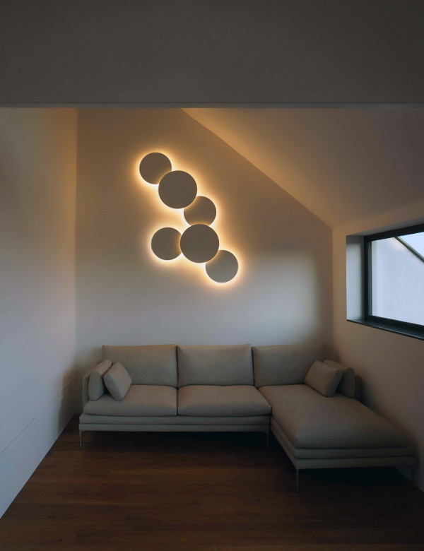 artistic lighting. artistic wall light in the room lighting