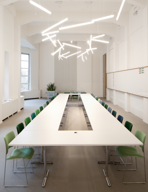 Conference Room Lighting Design: Vibia Lighting Halo Lineal