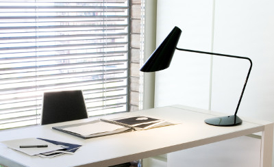 Black reading lamp